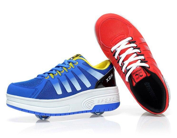 aliexpresscom acheter nouvelles top deux roues volantes chaussures enfants automati bouton enfants respirant espadrilles de sport casual roller skates