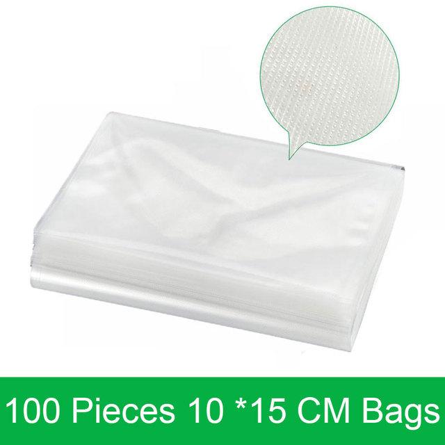 100 Pieces 10*15 CM Vacuum Packer Bags for Food Wholesale 10*15CM Vacuum Sealer Packing Machine Bag