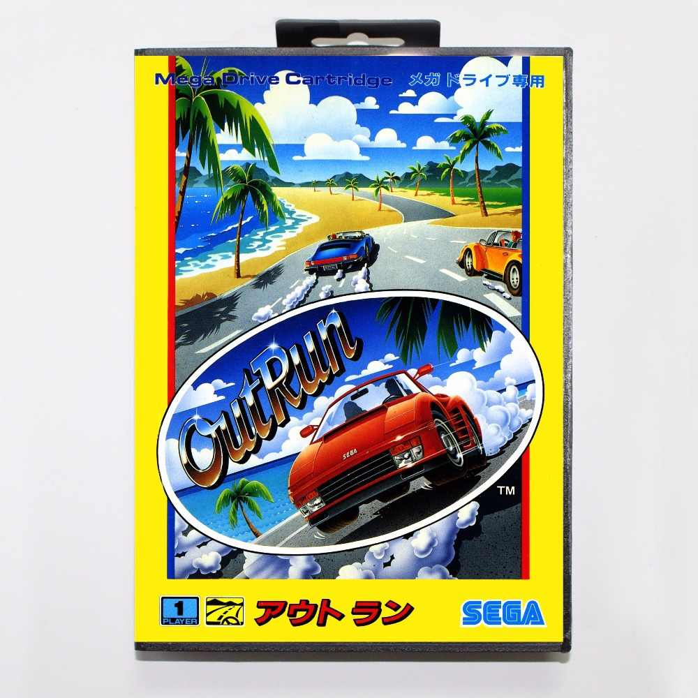 OutRun Game Cartridge 16 bit MD Game Card With Retail Box For Sega Mega Drive For Genesis