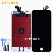 1PCS AAA Excellent Quality Display LCD Screen For Apple iPhone 5 LCD Touch Screen Replacement 4.0 inches White Black Free Gift