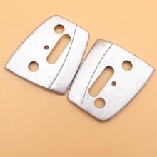 купить 2Pcs/lot Guide Bar Plate For HUSQVARNA 340 350 345 346XP 353 357 Chainsaw Parts онлайн