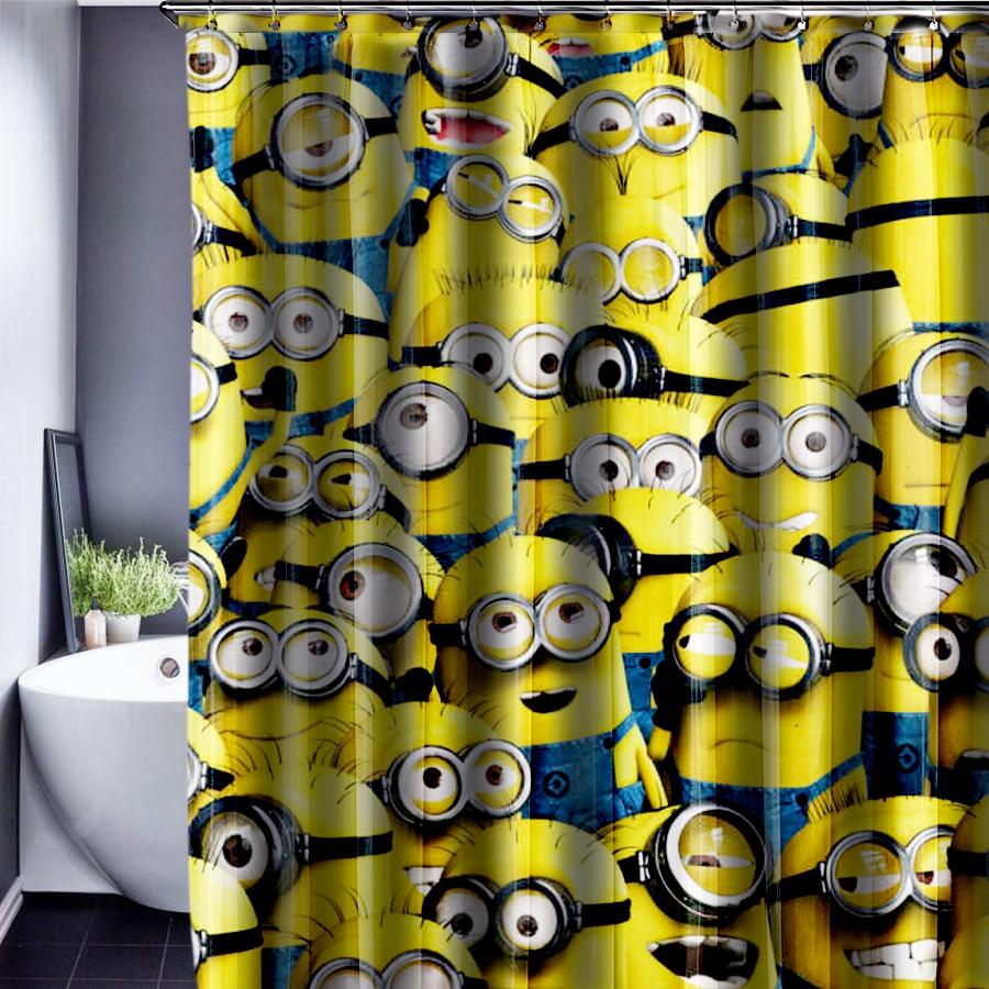 Minions Shower Curtain Pattern Customized Shower Curtain Waterproof Bathroom Fabric Shower Curtain For Bathroom 165x180cm
