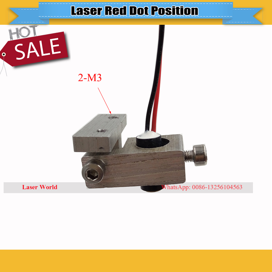 Red Dot Position + Support Holder Used For Co2 Laser Head Focus Diode Module DIY Laser Engraver Cutter  Machine 2030/3040/4060