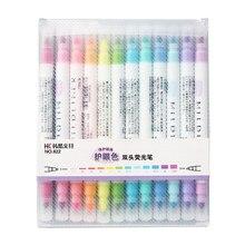12 farbe Mild Highlighter marker liner Dual seite Bold Feine schreiben zeichnung stift Schreibwaren Büro material Schule liefert F103