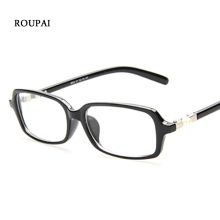 2019 Eyeglasses Women 2018 Clear Lens Woman Grade Glasses Small Rectangle Female Fashion Spectacle Frames Nerd Pearl Eyewear