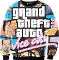 2015 nueva moda gta vice city imprimir sudaderas 3d hombres / mujeres Harajuku hoodies moleton masculino tamaño S-XXL envío gratis