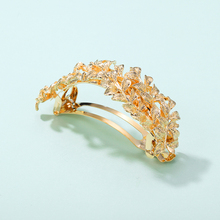 CHIMER Metal Leaf Hair Clips Gold Arch Barrettes Accessories for Women Vintage Hair Pins Hairgrip Headwear Simple Ponytail Clip classic solid color leaf hairgrip for women