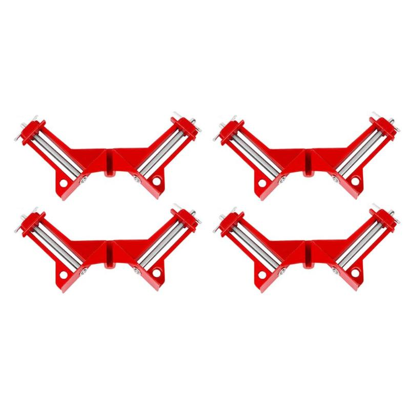 4pcs Multifunction Right Angle Clamp 4inch 90 Degrees Clip Picture Frame Clamp Mitre Structure Picture Holder Woodworking Tool