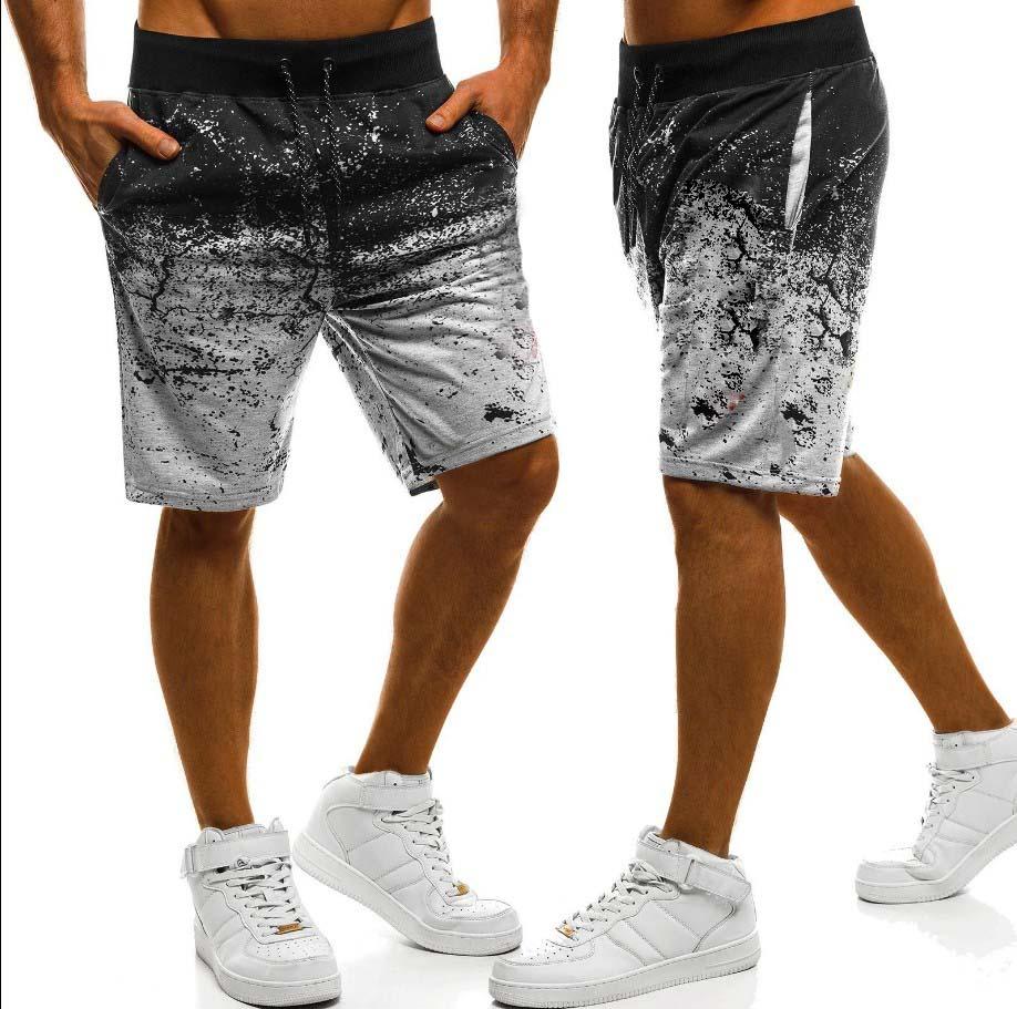 Brand New Summer Men Gradient Cargo Shorts Men Elastic Beach Sport Pants Shorts Pocket Masculina Shorts Homme Men Clothing
