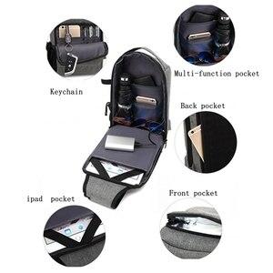 Image 5 - BAIBU sac à bandoulière imperméable pour hommes, sac chargeur USB de massage anti vol, sac messager de poitrine court voyage pour ipad Mobile