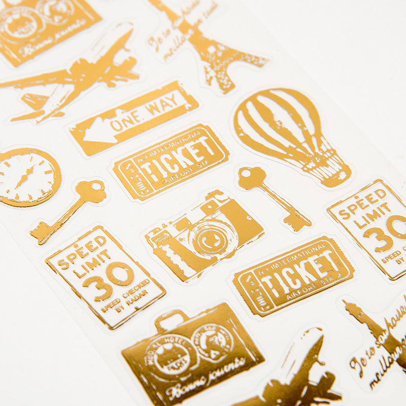 1 Pc Retro PVC Transparent Stickers Travelers Notebook Diary Sticker Planner Accessories Handmade Sticker Office School Supplies