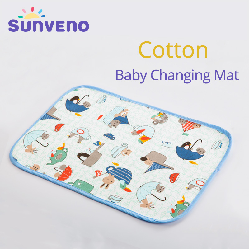 SUNVENO Pretty Baby Mat Changing Pad Baby Changing Mat Newborn Baby Changing Pad For Infant Waterproof 30X45 Cm