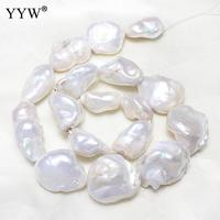 2018 New Fashion Women's Cultured Freshwater Nucleated Pearl Beads white Pearl Beads For Making DIY Jewelry Bracelet Necklace