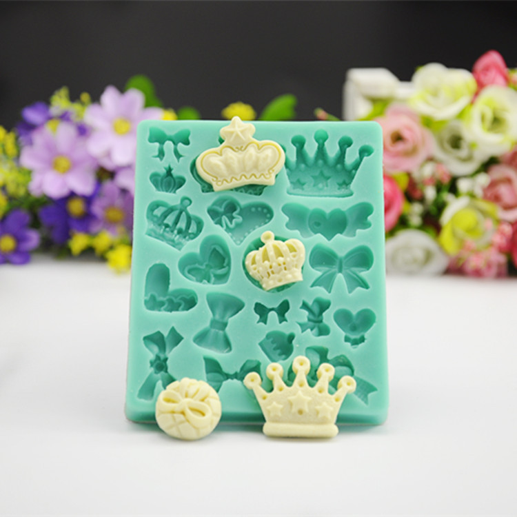 Nobility Cake Fondant Cake Decoration Crown Decorative Birthday Cake Baking Tools Imperial Crown Butterfly Knot Heart A468
