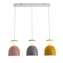 Macarons modern simple LED restaurant cheap pendant lights colorful creative foyer droplight kids room lighting fixture