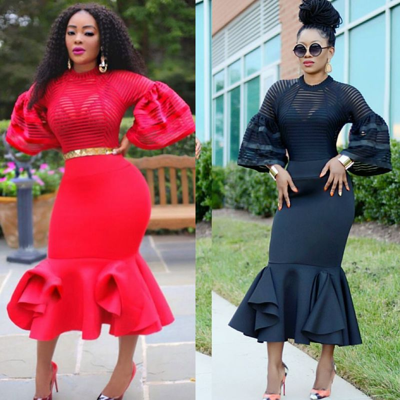 2017 african dresses for women african clothes maxi dress africa outfit dress gown elegant lady mermaid robe 2018 spring women elegant vintage velvet floral long mermaid dress female mid calf a line dresses slim office lady party dress