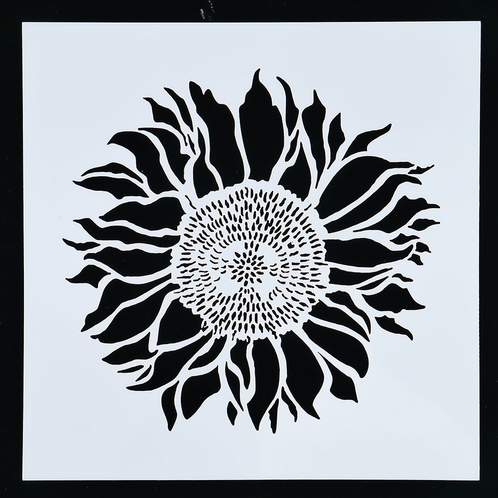 1PC 13*13cm Sunflower Shaped Reusable Stencil Airbrush Painting Art DIY Home Decor Scrap Booking Album Crafts Free Shipping