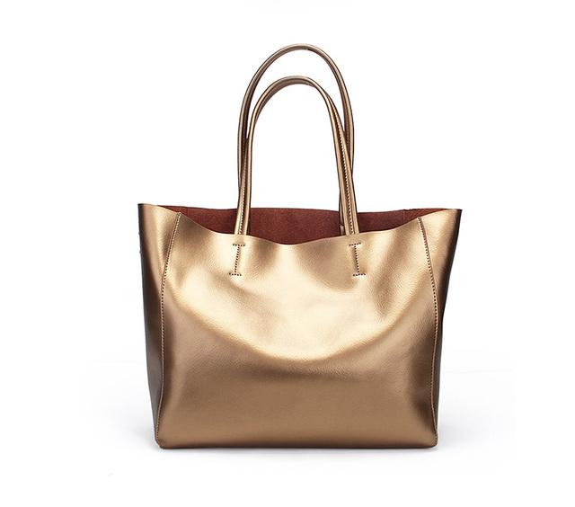 New 2017 Fashion Women Real Genuine Leather Casual Women Handbag Large Shoulder Bags Elegant Ladies Tote Satchel Purse Bolsa