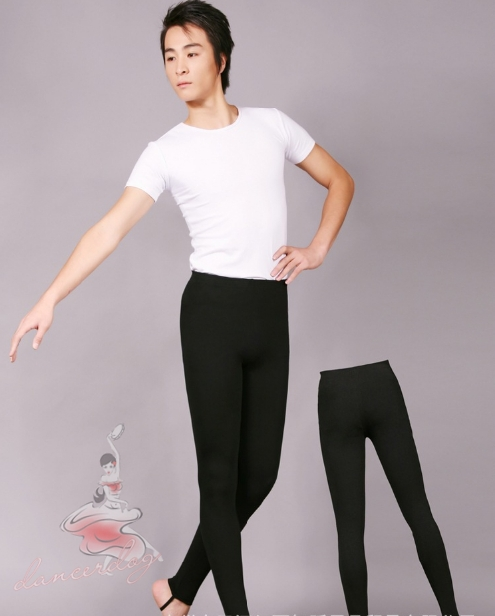 dbd8fd395504 dancerdog0322 Men dance step with Slim thin tight pants ballet, physical  pants, modern dance pants, high elastic tights black