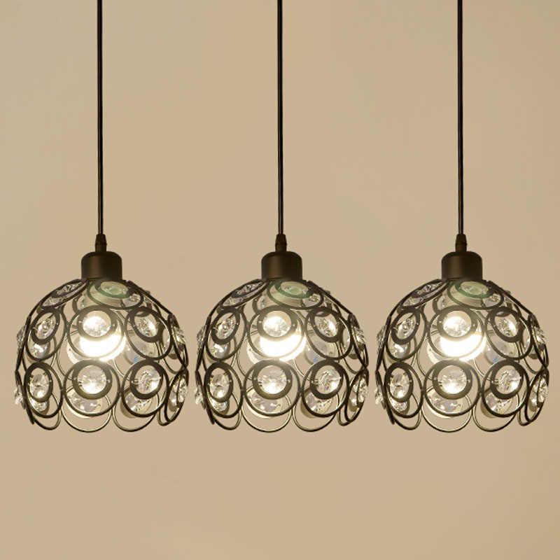 Расписные подвесные светильники с кристаллами черного цвета и белого цвета Круглый Шар Абажур простой подвесной светильник