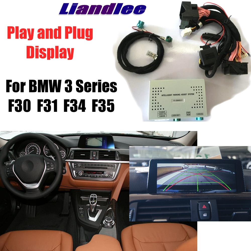 Liandlee Parking Camera Interface Reverse Back Up Camera Kits For BMW 3 F30 F31 F34 F35 CCC CIC NBT EVO Display UpgradeLiandlee Parking Camera Interface Reverse Back Up Camera Kits For BMW 3 F30 F31 F34 F35 CCC CIC NBT EVO Display Upgrade