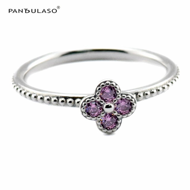 Pink Oriental Blossom Ring Sterling-Silver Newest  Authentic Pure Sterling Wholesale Ring European Style Woman DIY Rings