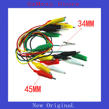 10PCS/lot Large Alligator Clips Electrical DIY Test Leads Alligator Double-ended Crocodile Clips Roach Clip Test Jumper Wi lson abs large pcb test hook clips yellow 5 pcs