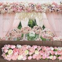 Hot Pink Wedding Pavillion Flowers strips square canopy flower decoration Wedding Supply 4M x 24cm