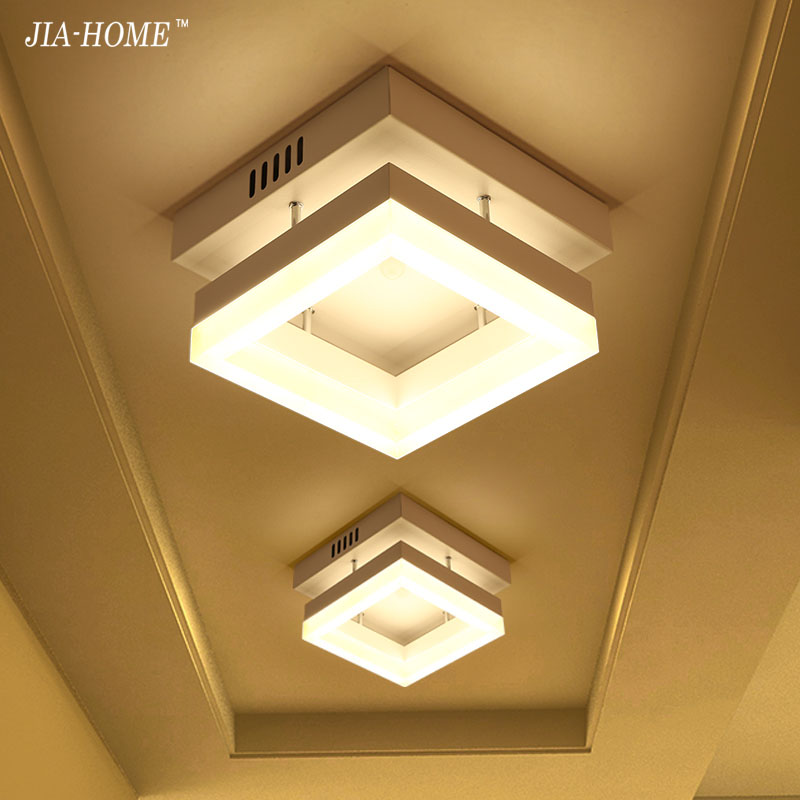 9w LED Ceiling Lights iron acrylic High brightness for Bathroom corridor aisle Lamps home lighting fixtures support AC90-265v