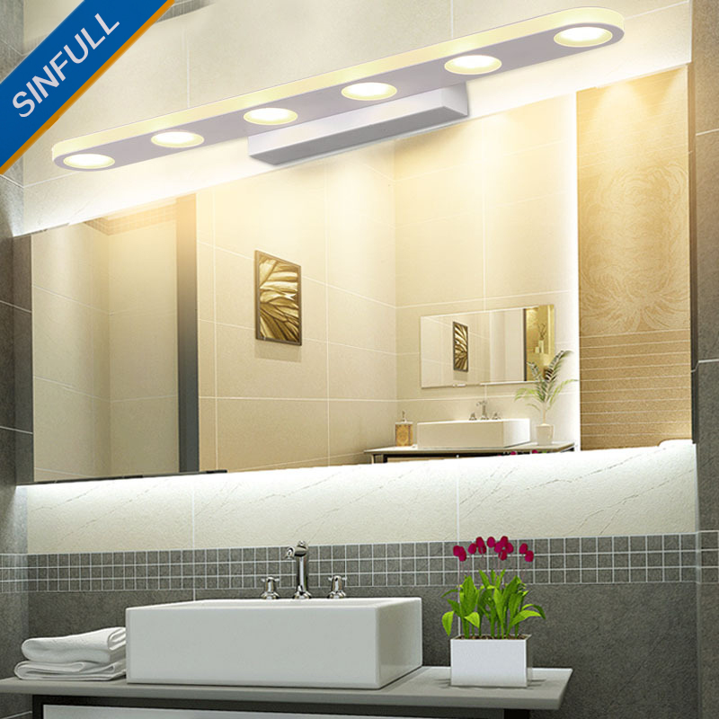 Modern Creative Mirror Front Lamp Minimalist Bathroom Led Wall Light Makeup Waterproof Led Indoor Lighting Fixtures AC90-260V only minimalist modern creative bedside lamp led wall lamp mirror front lamp aisle lighting fixtures wall lights led