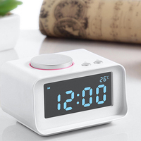 FM Speakers Dual USB Charger for Ipad Mp3 Phone Computer Temperature Snooze Digital LED Radio Alarm Clock Speaker LCD Display