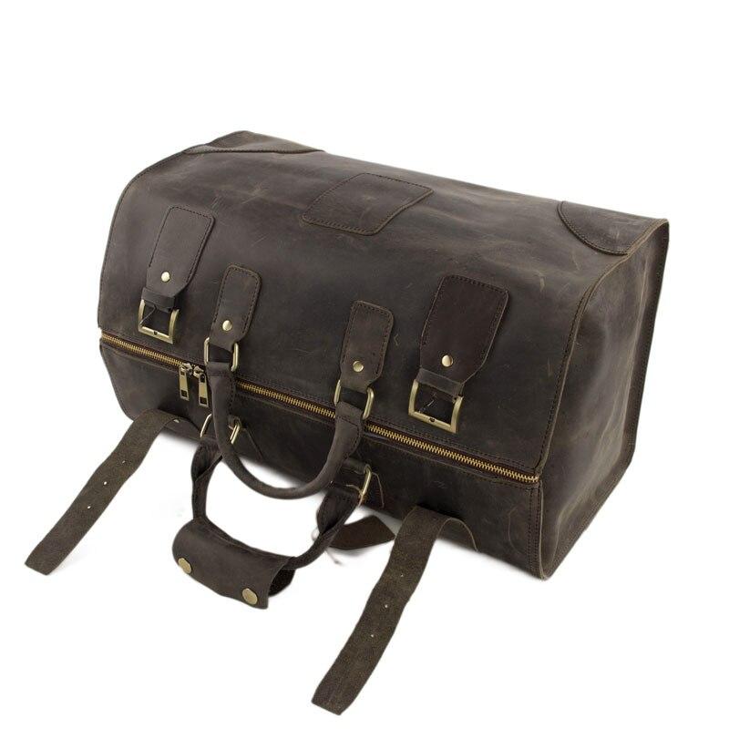 louco dos homens sacolas de Leather Duffle Bag Hardware : Brass