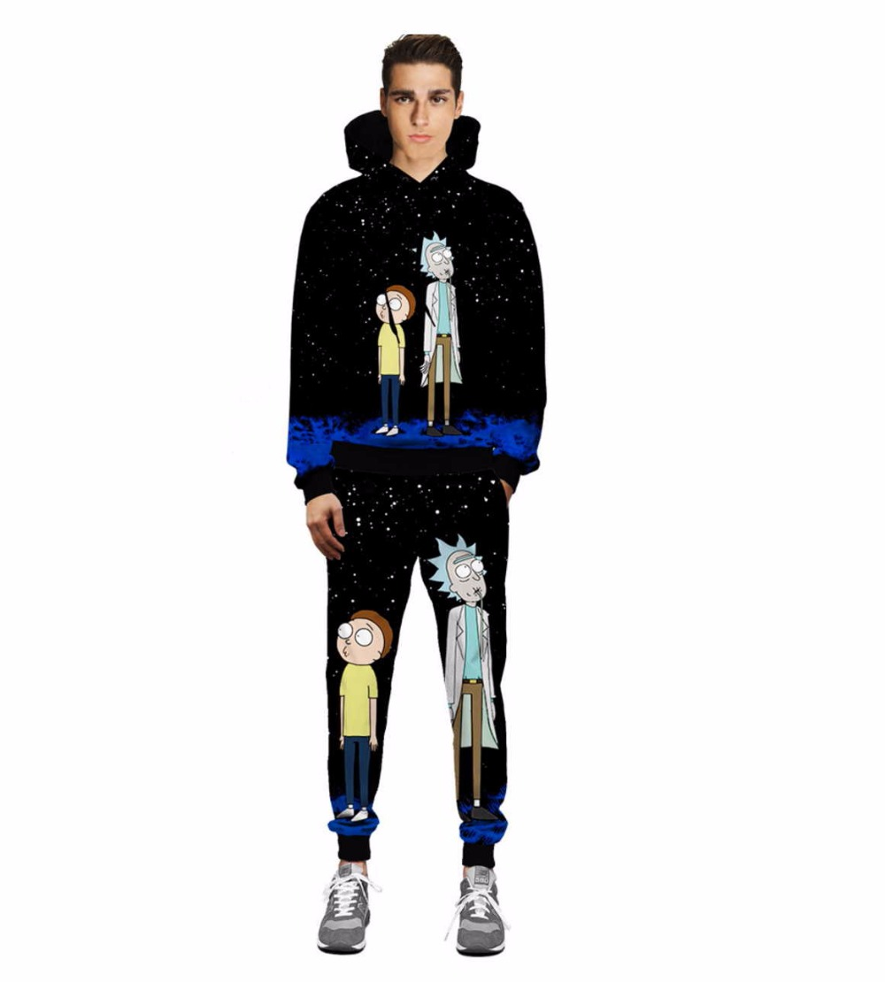 Casual Unisex Rick and Morty  Print Hoodies or Skinny Jeans (Sell by Separate) Anime Sweatshirt With Hat Spring Autumn Clothing Rick and Morty  Print Hoodies HTB1P27HQFXXXXaQXXXXq6xXFXXXy