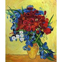 Large wall landscape pictures Poppies and Iris Collage Vincent Van Gogh oil painting on canvas modern home decor