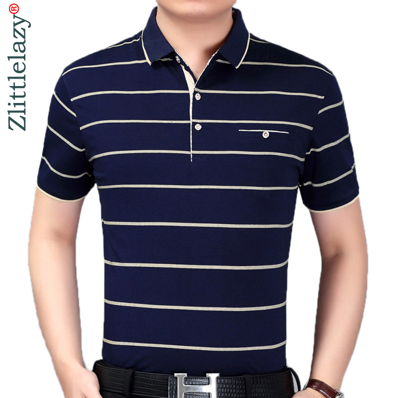 2019 summer short sleeve knitting   polo   shirt men clothes striped fashions   polos   tee shirts pol cool mens clothing poloshirt 880