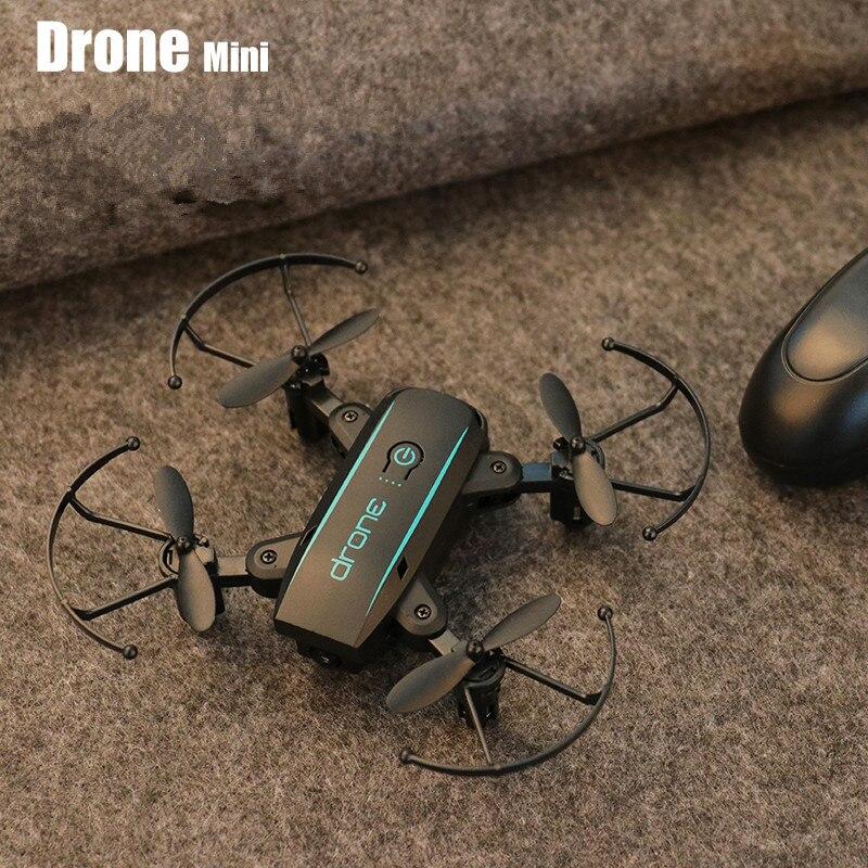 Wifi FPV mignon Selfie Mini Drone et caméra hélicoptère hauteur garder radiocommande enfants jouet Drone quadrirotor pliant Drone