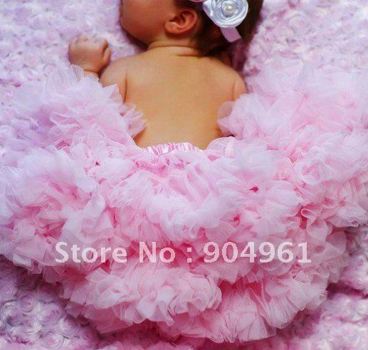 Baby girls petti skirt birthday tutu skirt pink soft tutu fluffy