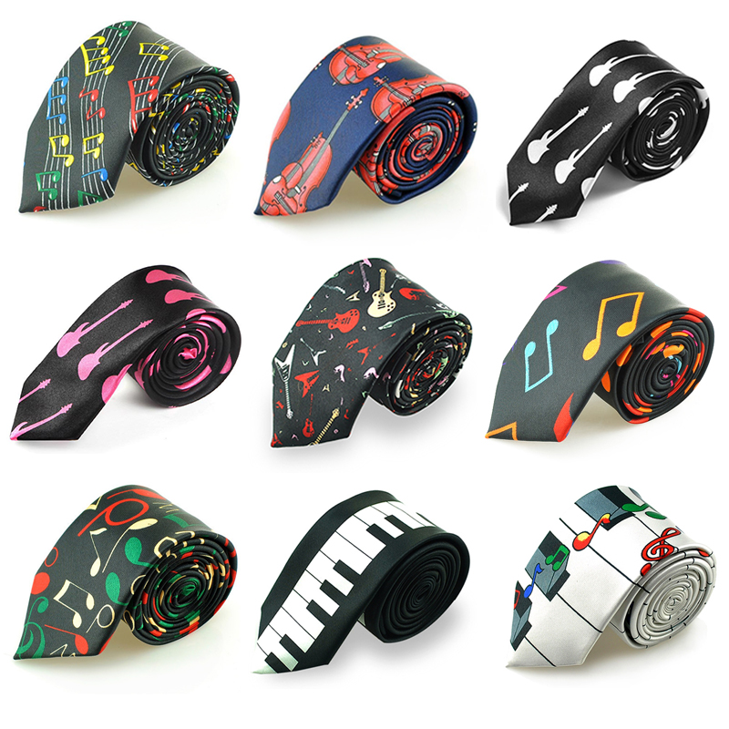 Free Shipping 2inch wide 9Colors Hot Musical Neckties Mix Polyester Woven Classic Men`s Party Wedding Music Notes Tie Gravata