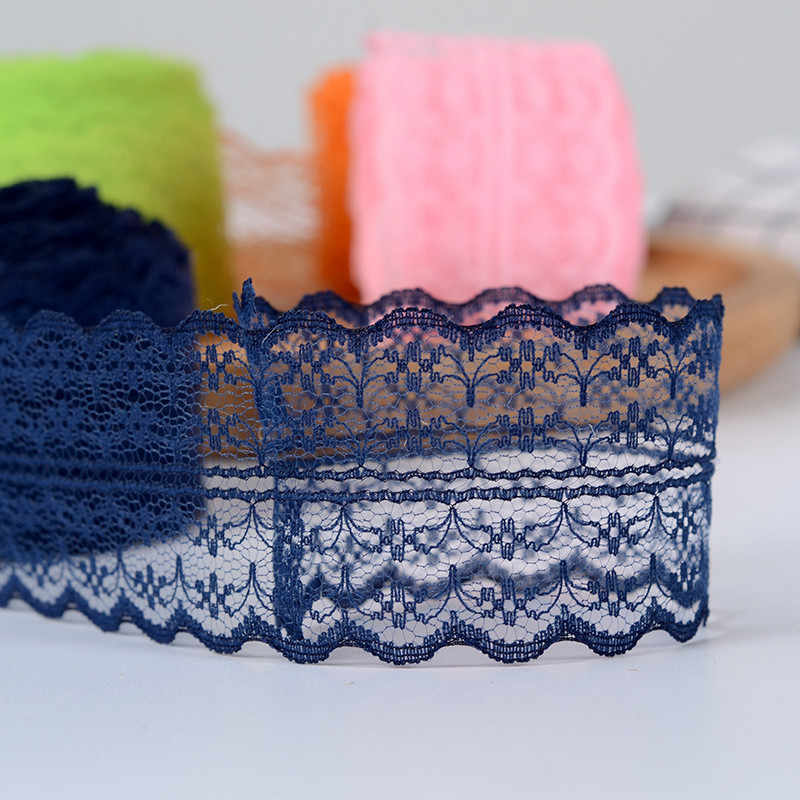 10 m/rolo 4.5 cm laço fita roupas tecido diy bordado cabo de rede para costura decoração africano laço tecido feito à mão material