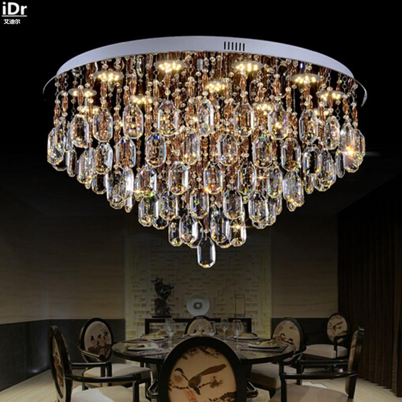 Europische Kristall Lampen Wohnzimmer Lichter Schlafzimmer Lampe LED Crystal Light Modernen Minimalistischen Runde Deckenleuchten Rmy