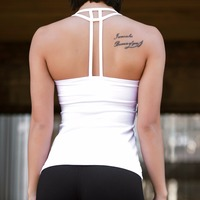 New Women Fitness Bodybuilding Tops Sleeveless Nylon Tank Top Women Vest Tops Female Fashion Cropped Sexy