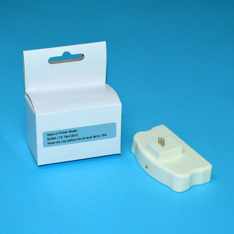 TM-C3500 TM-C3510 TM-C3520 Cartridge chip resetter For Epson TM-C3500 C3510 C3520 Printers casio prw 3500 1e