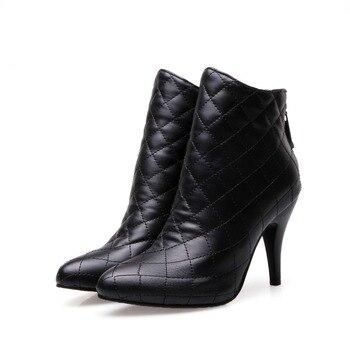 2 colores nuevo diseño mujeres Botines moda Thin Tacones negro Botas negro Tacones b214ef