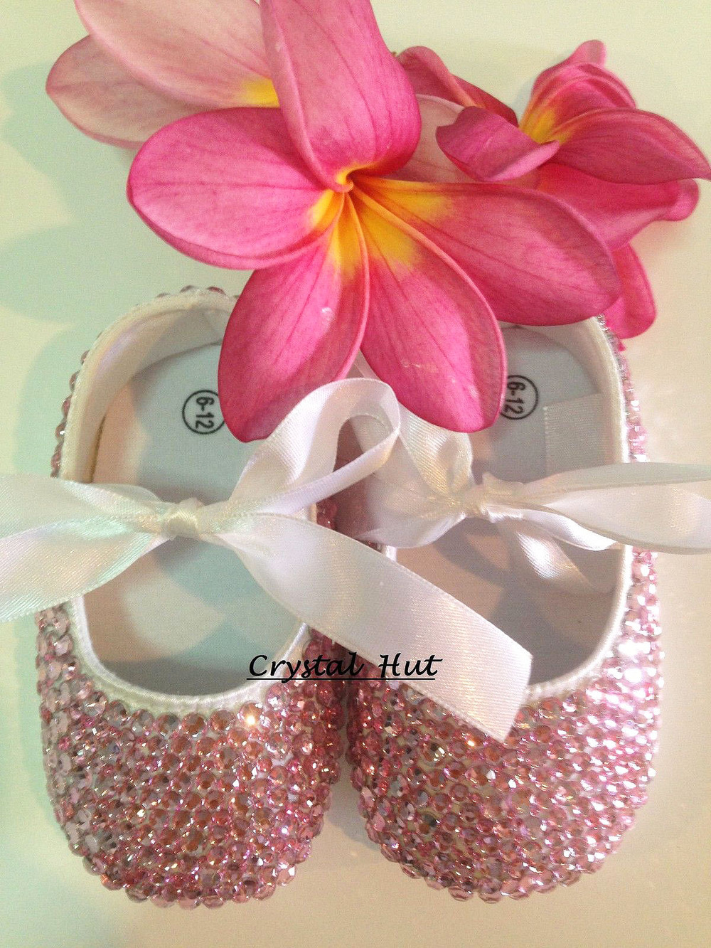716aadcf49cdb Shoes Baby Girl PInk Crystal Baby Shoes handmade glitter baby shoes ...