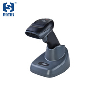 Quality wireless 2D barcode reader IP57 laser scanner gun support PDF417 QR code reading from screen with stand needn't driver