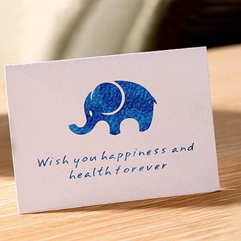 8pc lot handmade children birthday paper elephant greeting