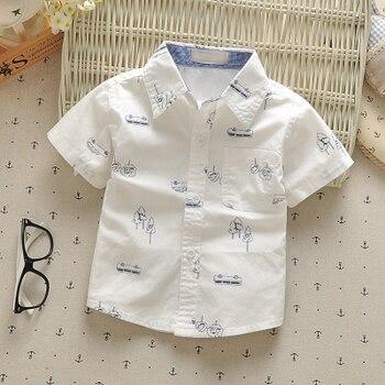 1-3 year baby boys shirts 2017 summer 100% cotton kids clothes casual short-sleeve children tops wear vetements pour enfants