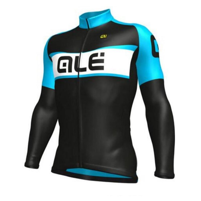 2018 ALE Professional Riding Sweatshirt Long Sleeve Vest Roman ciclismo Men Breathable Jersey Bike Sports Wear Bike Outerwear