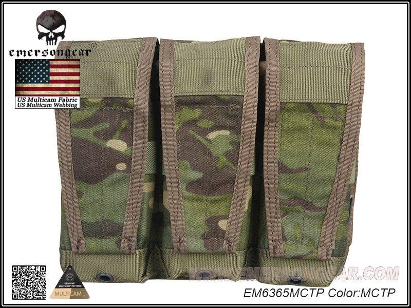 Doelstelling Emerson Molle Tactical Airsoft Outdoor Game Jacht Tassen Stijl Flap Triple Magazine Pouch Voor Avs Vest Militaire Tas Em6365mctp