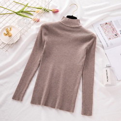 New Turtleneck Knitted Sweater Female Casual Pullover Women Autumn Winter Tops Korean Sweaters Fashion 2018 Women Sweater Jumper 4